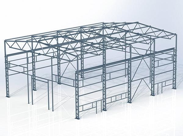 Проект металлической конструкции 432 кв.м. 18х24х9,3 м