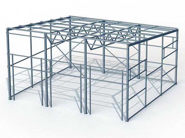 Проект металлической конструкции 240 кв.м. 15х16х6 м