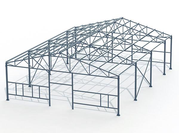 Проект металлической конструкции 315 кв.м. 15х21х3,5 м