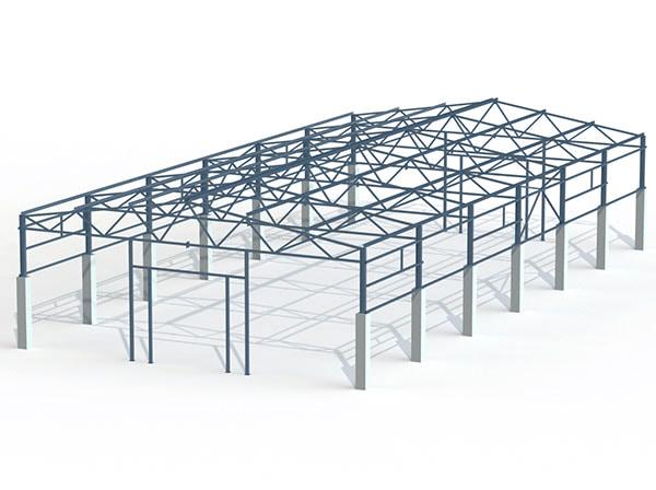 Проект металлической конструкции 648 кв.м. 18х36х6 м